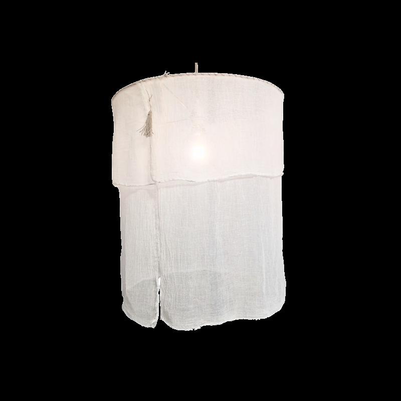 Suspension en tissu coton écru - ø70xH60cm