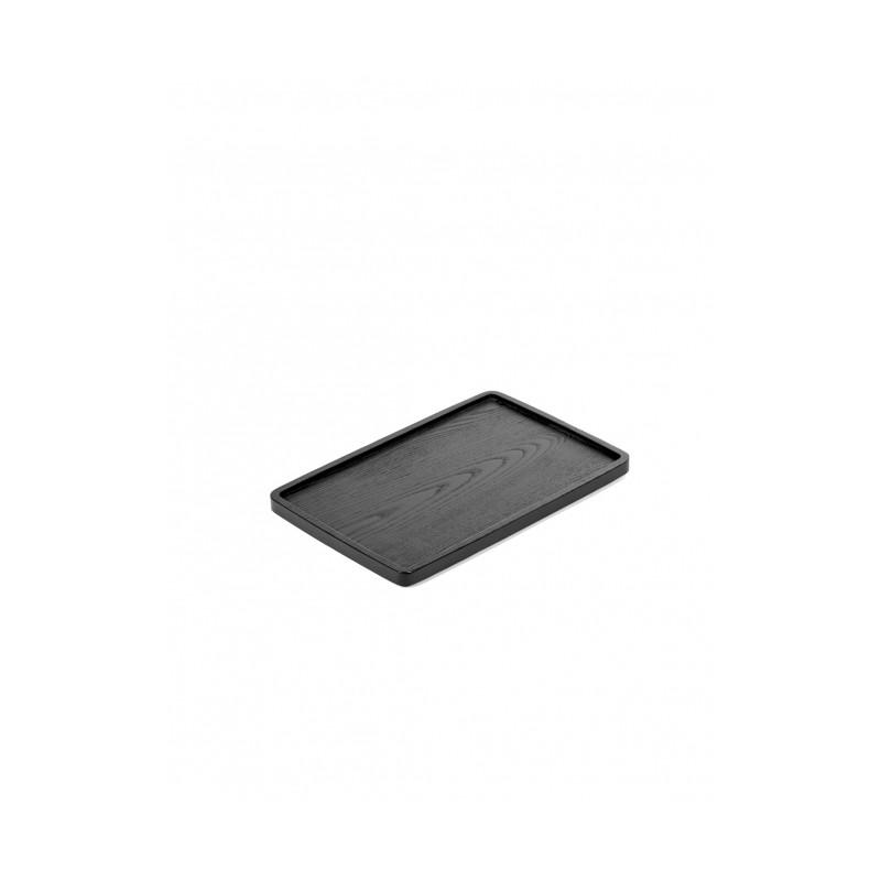 Plateau de service frêne noir - 30x20xH1,7cm