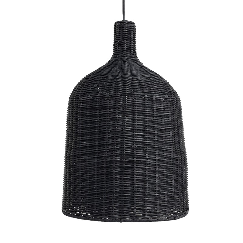 Suspension rotin noir - ø46xH70cm