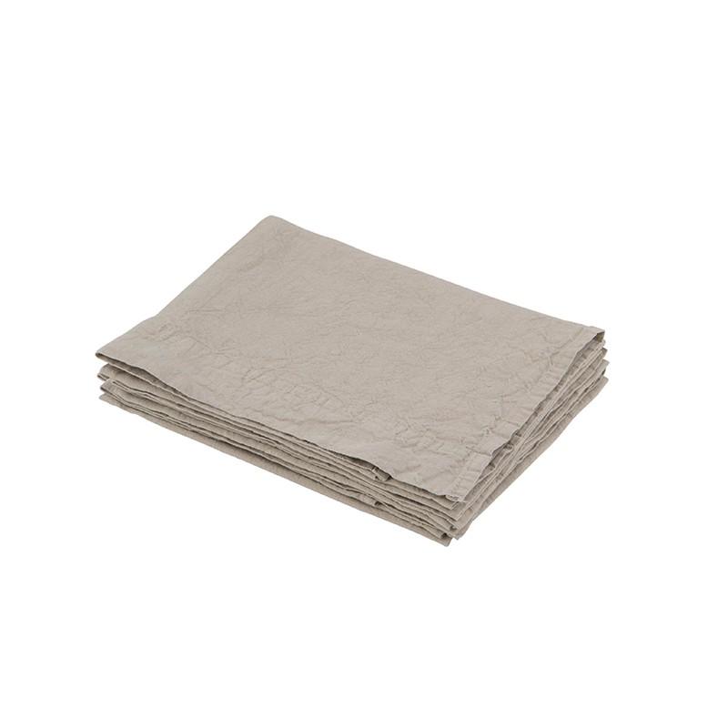 Serviette de table en lin lavé - 45x45cm