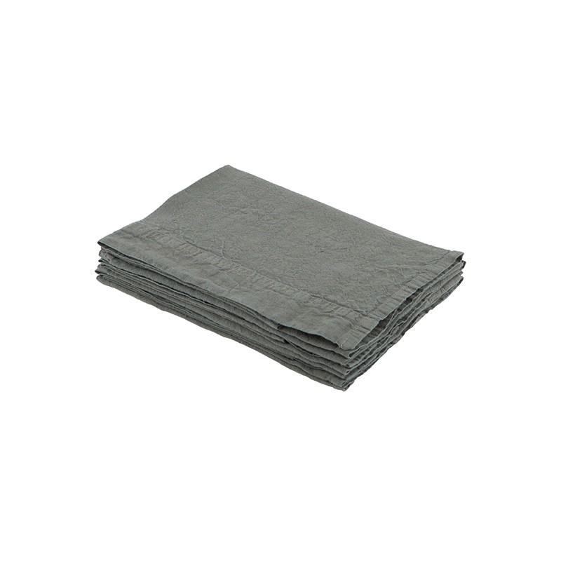 Serviette de table en lin lavé SAUGE - 45x45cm