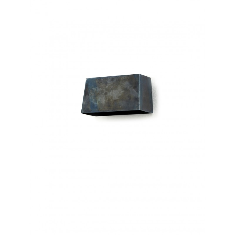 Applique acier bleu NR36 SOFISTICATO - 18x10xH9,5cm