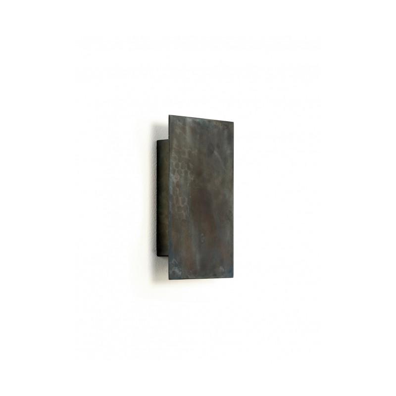 Applique acier bleu NR40 SOFISTICATO - 22,5x25xH13cm