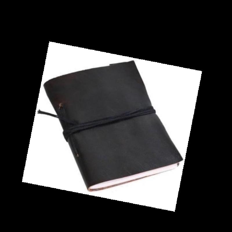 Carnet de voyage noir - 12x15cm