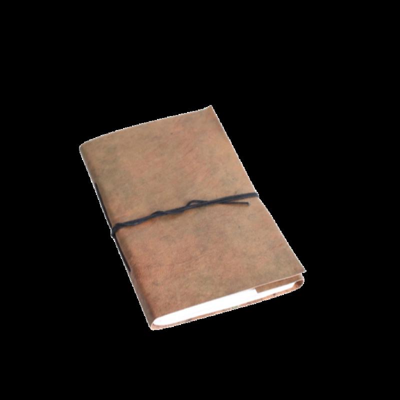 Carnet de voyage marron - 14x22,5cm