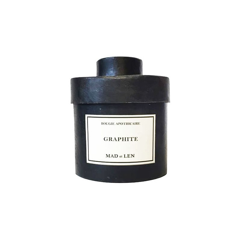 Bougie apothicaire GRAPHITE - 300g